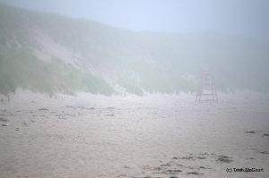 Mavilette Beach in fog
